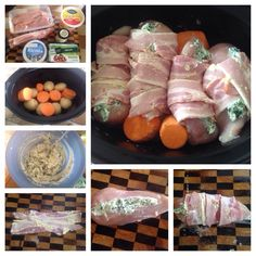 Ricotta Chicken Breast Parcel Crock Pot Slow Cooker, Slow Cooker Recipes, Ricotta Stuffed Chicken, Recipe For 4, Savoury Dishes, Chicken Recipes, Bacon, Frozen, Cooking