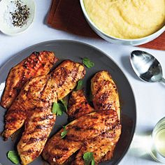 15-Minute Fish Dinners  | Grilled Tilapia with Smoked Paprika and Parmesan Polenta | MyRecipes.com