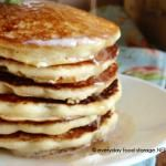 Blender Wheat Pancakes - whole wheat kernels (no grinding into flour) + pour straight from blender to griddle. AWESOME.