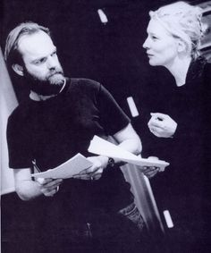 Hugo Weaving and Cate Blanchett in rehearsals for STC's Hedda Gabler (original scan by Crowjane29)