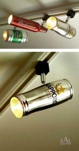 Spot lámpa férfiaknak sörösdobozból