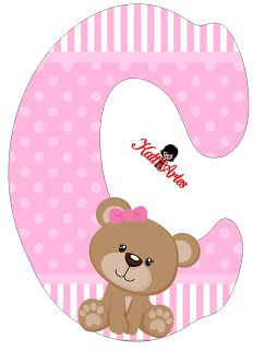 C is for campbell Baby Shawer, Baby Art, Scrapbook Letters, Baby Girl Scrapbook, Alphabet And Numbers, Cute Bears, Hello Kitty, Scrapbooking, Clip Art