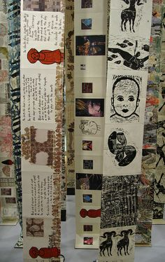 Hanging Book Installation - Detail by Yeshiva University Museum Exhibitions, via Flickr Art Diary, Yeshiva University, Collages, Book Sculpture, Visual Diary, Gcse Art, Handmade Books, Book Installation, Art Education
