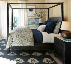 navy bedroom inspiration