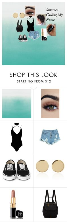"""Summer Calling My Name"" by alivialinette ❤ liked on Polyvore featuring Boohoo, Magdalena Frackowiak, Chanel and Marc Jacobs"