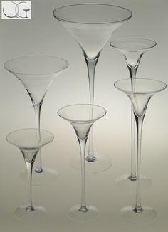 Wazon świecznik szklany Szklanka Martini h-70