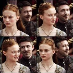 Petyr Baelish being creepy/adorable (you choose which haha ) in the background in long ago season one.  ~ ~ ~ #aidangillen #petyrbaelish #sophieturner #sansastark #littlefinger #gameofthrones #got #gotseason1 #gameofthronesfamily #asoiaf #asongoficeandfire #myedit