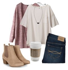 A fashion look from February 2016 featuring Uniqlo t-shirts, Abercrombie & Fitch jeans and Kendra Scott necklaces. Browse and shop related looks. College Outfits, School Outfits, Fall Winter Outfits, Spring Outfits, Looks Style, My Style, Cute Casual Outfits, Stylish Outfits, Polyvore Outfits