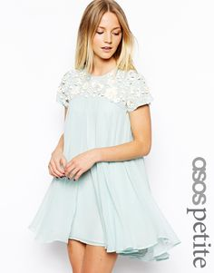 ASOS PETITE Exclusive Premium Floral Embellished Trapeze Dress