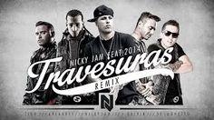 Travesuras Remix - Nicky Jam Ft De La Ghetto, J balvin, Zion y Arcangel | Video Lyric - YouTube