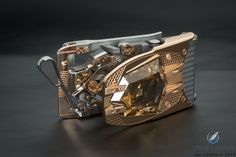 The R60 Diablo mechanical belt buckle set with a 60.66-carat diamond by Roland Iten