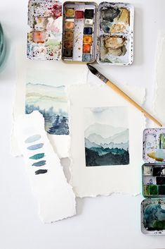 Watercolor Wednesdays 1- How to paint mountains