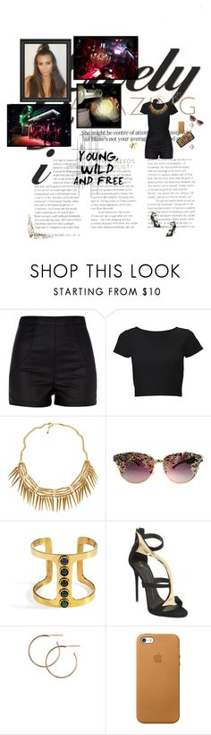 """Young, wild, and free"" by amber-daylight ❤ liked on Polyvore featuring River Island, Lipsy, H&M, Lizzie Fortunato, Giuseppe Zanotti, Repossi, Chanel and Crate and Barrel"