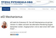 eID Mechanismus | TYPO3 CMS Tutorials