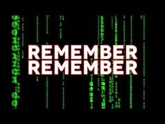 ▶ Remember Remember  - StormCloudsGathering - you tube