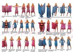Saia Dupla Face indiana vira vestido