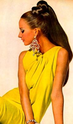 Yellow Fashion ♥ 1960's. Model Marisa Berenson
