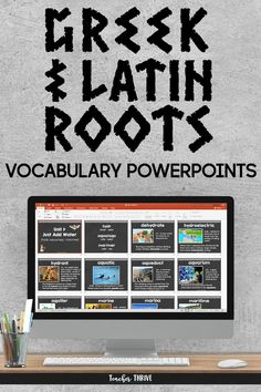 Greek and Latin Roots PowerPoints [Book Vocabulary Instruction, Teaching Vocabulary, Co Teaching, Teaching Tools, Teaching Ideas, Teaching Materials, Teaching Resources, Latin Root Words, High School Activities