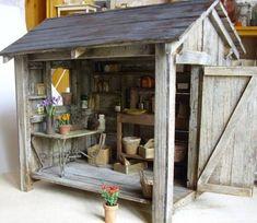 Image result for miniature garden shed
