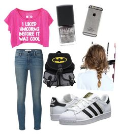 """Untitled #13"" by andraconstantinescu on Polyvore featuring Frame Denim, adidas Originals and Lane Bryant"