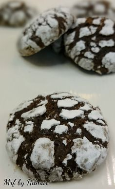 Mis recetas favoritas: Galletas craqueladas de chocolate