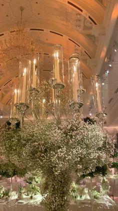 Wedding Reception Decorations, Wedding Centerpieces, Wedding Table, Big Wedding Cakes, Centrepieces, Wedding Venues, Wedding Ideas, Glamorous Wedding, Luxury Wedding Decor
