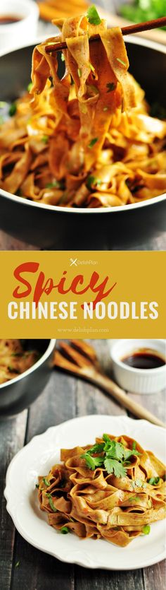 These mouthwatering spicy Chinese noodles are the most savory and irresistible noodles youll ever have. It only requires 6 ingredients. Make and slurp! Tofu, Vegetarian Recipes, Cooking Recipes, Kitchen Recipes, Cooking Ideas, Bowls, Asian Recipes, Ethnic Recipes, Chinese Recipes