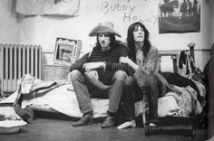 enroute -Sam Shepard and Patti Smith Chelsea Hotel, New York, 1971 photo by Gerard Malanga