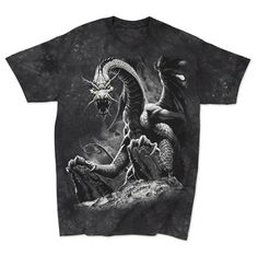 You won't want to keep this Black Dragon Adult T-shirt dragon shirt in its dungeon! Also available in kids sizes at ComputerGear. Game Of Thrones Merchandise, Got Dragons, Pilot Gifts, Baby Halloween, Halloween Ideas, Gamer Gifts, Black Dragon, Geek Humor, T Shirt Costumes