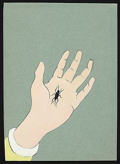 Citation: Bug in Palm, between 1932 and 1974 . Charles Green Shaw papers, Archives of American Art, Smithsonian Institution.
