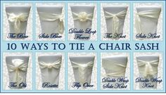 alternatives to chair covers for weddings | Traditional Bow Plus 9 Alternative Ways to Tie a Chair Sash