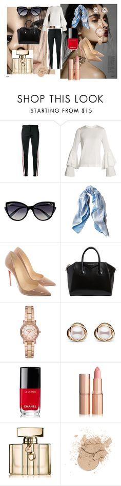 """elegant"" by asiak19 on Polyvore featuring moda, Gucci, Galvan, La Perla, Asprey, Christian Louboutin, Givenchy, Michael Kors, Trilogy i Chanel"