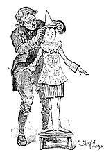 Le avventure di Pinocchio. Storia di un burattino - Geppetto veste Pinocchio