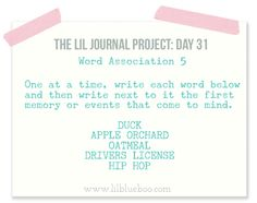 The Lil Journal Project Day 31 via lilblueboo.com #theliljournalproject