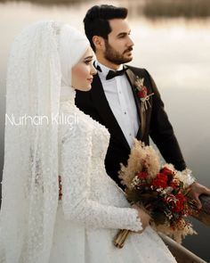 - Wedding and Gowns Hijab Style Dress, Hijab Wedding Dresses, Hijab Bride, Black Wedding Dresses, Wedding Dresses Plus Size, Bridesmaid Dresses, Couple Wedding Dress, Anthropologie Wedding, Muslim Women Fashion
