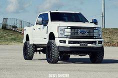 2017 Ford F250 Platinum - Fuel Off-Road - FTS — Diesel Shooter Ford F250 Diesel, Ford 4x4, Old Ford Trucks, Ford F250 2017, New Trucks, Jeep Truck, Diesel Trucks, Pickup Trucks, Future Trucks