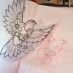 Colombe #bird #tattoo #missjuliet