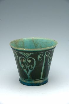 Title     Silhouette-ware beaker with palmettes Classification     Vessels Work Type     vessel  Date     12th-13th century
