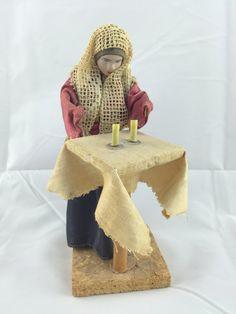 Jewish Judaica Israeli Doll Orthodox woman lighting Shabbat candles