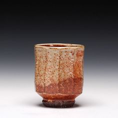 Phil Rogers - stoneware with shino glaze yunomi. Possibly my favourite ceramic artist at the moment.