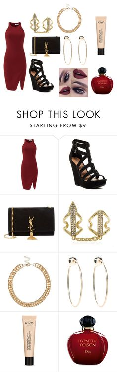 """""""Untitled #31"""" by jenadieu ❤ liked on Polyvore featuring Elizabeth and James, Chinese Laundry, Yves Saint Laurent, River Island, Anastasia Beverly Hills, Bebe and Christian Dior"""