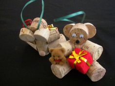 Cork Bears, Gingerbread, just imagine!