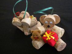 Cork Bears, Gingerbread, just imagine!