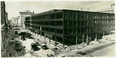 Martin Luther King, Jr. Memorial Library during the construction phase (circa 1970)