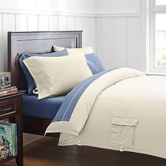 Classic Metro Duvet Cover + Pillowcase, Stone #pbteen