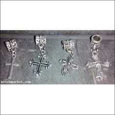 LOT OF 40 SILVER TONE BRAND NEW CROSS CHARMS $9.99