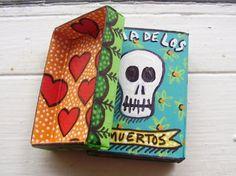 matchboxes for dia De los muertos