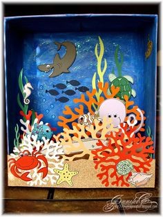 My um son s coral reef diorama for his science class I love anything ocean beach… - Kunstunterricht School Projects, Projects For Kids, Art Projects, Crafts For Kids, Kreative Jobs, Coral Reef Drawing, Coral Reef Craft, Ocean Diorama, Ecosystems Projects