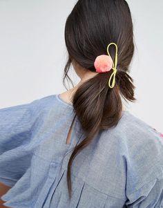Image 1 ofOrelia Pom Pom Hair Tie