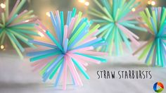 Learn how to make Starburst with drinking straws. Instruction :  How to make : Straw Starburts   What we need ?   Straws Zip tie   How to do ?   Step 1 :  Take a bunch of straws in same length.  Step 2 :  Tie them with a zip tie.  Step 3 :  Tighten the tie with pliers.  Follow us on Instagram : https://www.instagram.com/ventunoart Subscribe Youtube Channel : https://goo.gl/5UnDXn